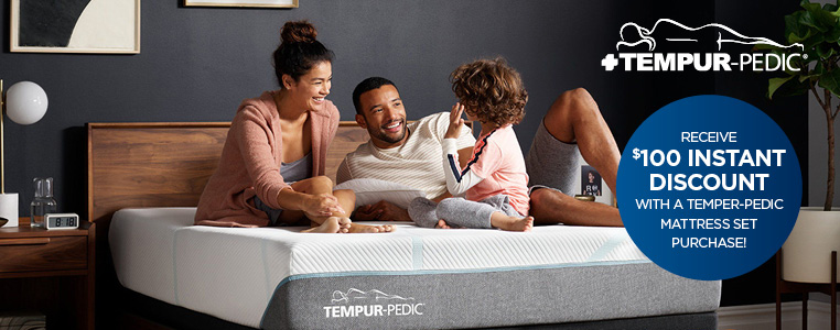$100 Instant Discount With A Temper-Pedic Mattress Set Purchase