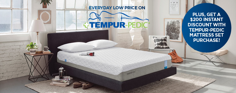 Lowest price every day on Tempur-Pedic mattresses