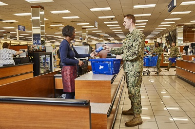 Navy Exchange checkout