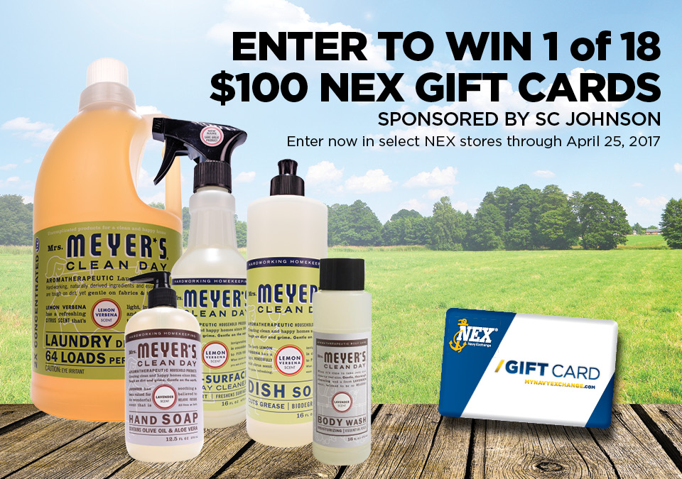 Win one of eighteen $100 NEX gift cards in-store with this SC Johnson Sweepstakes