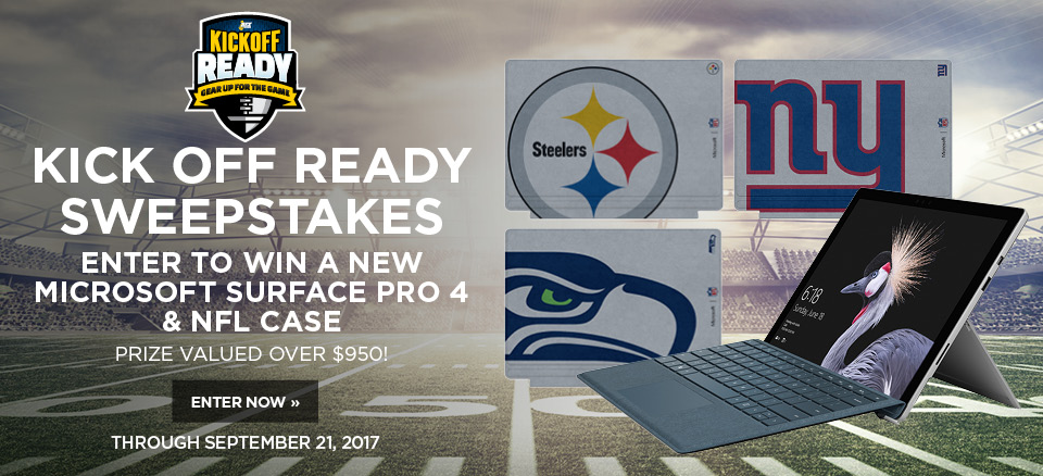 Enter to win a new Microsoft Surface Pro 4 and NFL Case