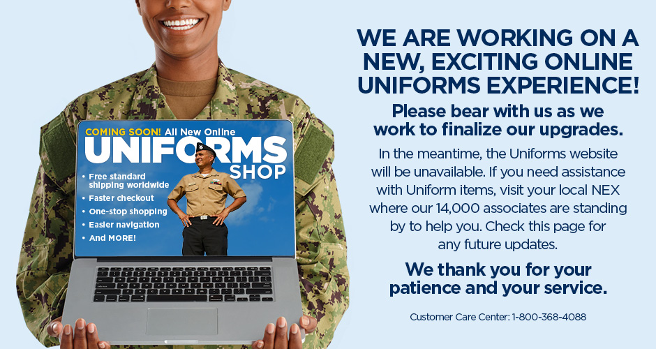 Uniforms website is down for upgrades