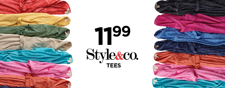 Style & Co V-Neck Tees