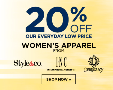 20% off Select Women's Brands