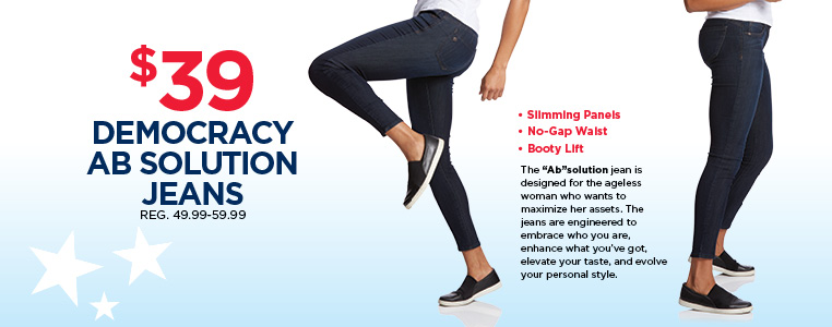 Democracy Slimming, Booty Lift Ab Solution Jeans