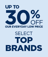 30% off select top brands