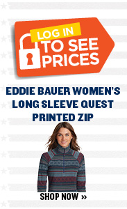 $29 Eddie Bauer Women's Long Sleeve Quest Printed Zip