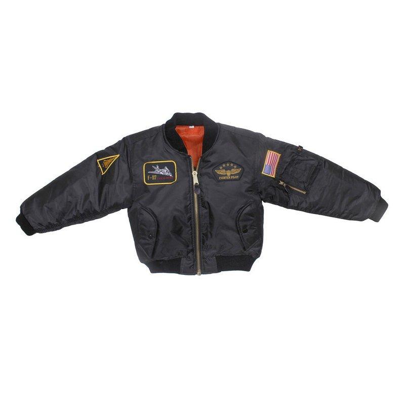 08be0dfe8957e Rothco Boys  Ma-1 Flight Jacket With Insignia Patches