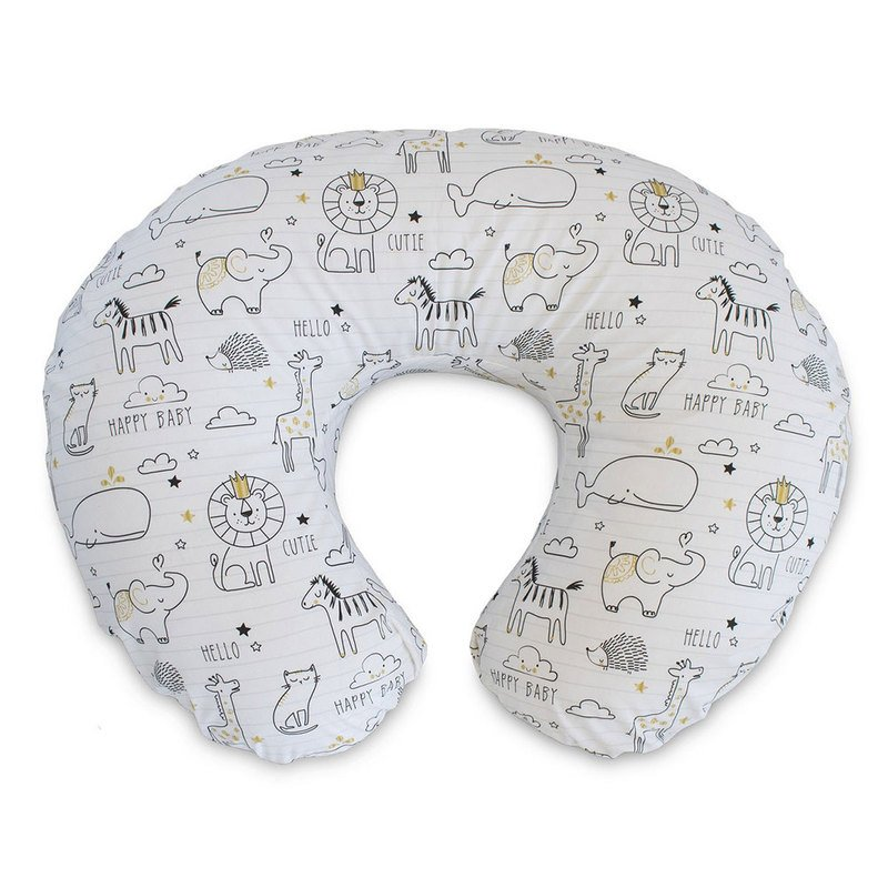 Pillow Cover,Gray Point Nursing Pillow Cover,Breastfeeding Pillow Cover,Newborn Infant Feeding Cushion Cover,Super Soft and Machine Washable,Big Pillow Cover Only