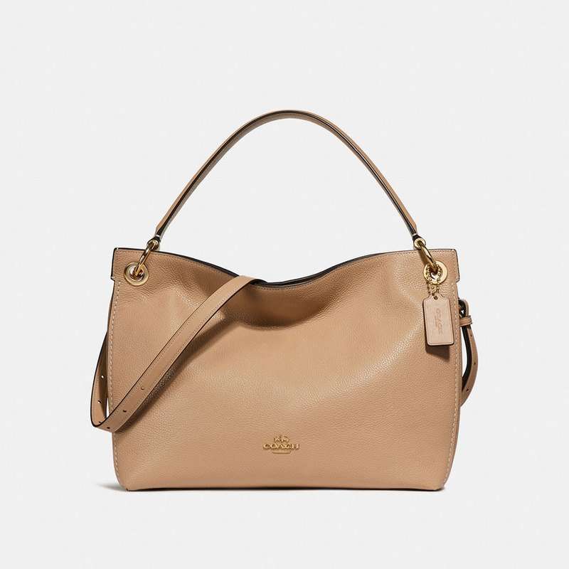 Coach Polished Pebble Leather Clarkson Hobo Beechwood Handbags - Invoice bill format coach outlet store online free shipping
