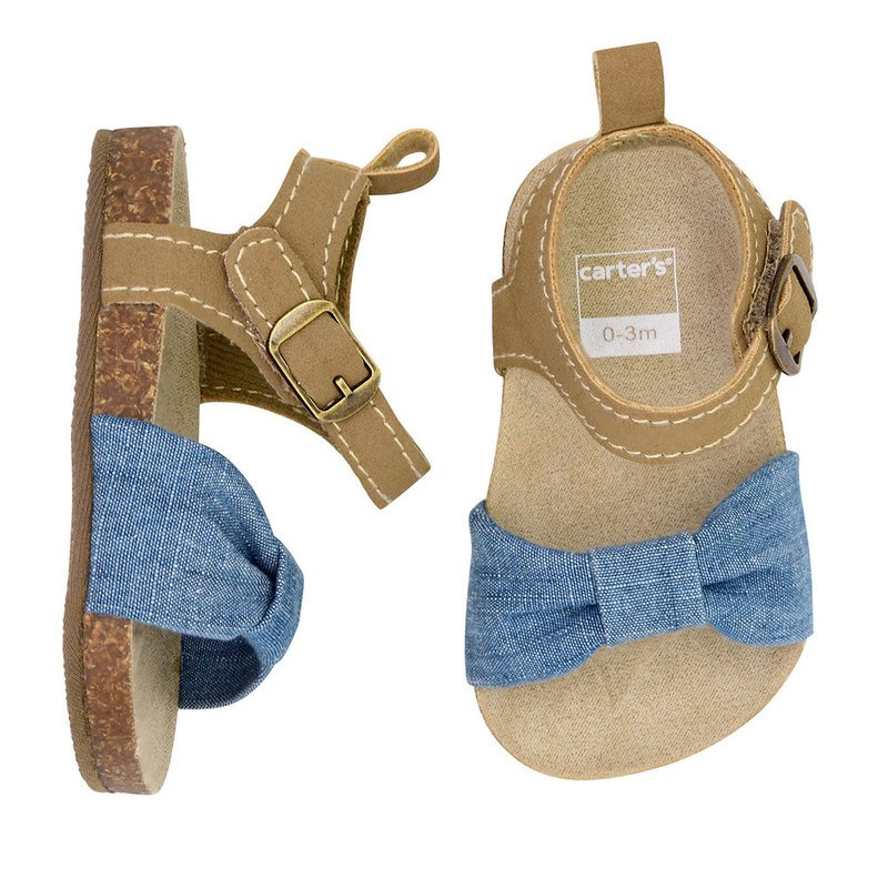ce0b8b959 Carter's Baby Girls' Cork Sole Sandal | Baby Booties, Socks & Shoes ...