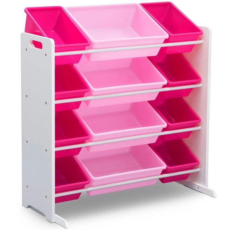 Storage Organizer With 12 Plastic Bins