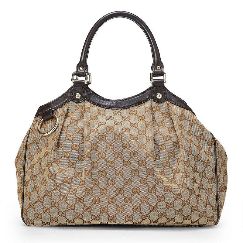 Gucci Brown Canvas 211944 Handbags Accessories Shop