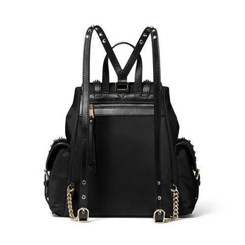 418f51cdd756 Michael Kors Leila Small Flap Backpack Black