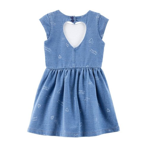 7ccd770f Carters Toddler Girls Cap Sleeve All Over Heart Print Back Cut Out Knit  Dress | Little Girls' Dresses, Skirts & Rompers - Shop Your Navy Exchange -  Official ...