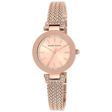 Anne Klein Women's Rose Gold Tone Mesh Bracelet Watch, 30mm