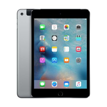 Apple iPad Mini 4, Wi-Fi + Cellular, 128GB, Space Gray (MK8D2LL/A)