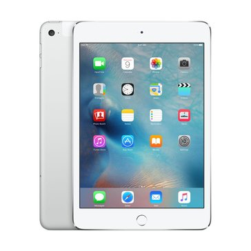 Apple iPad Mini 4, Wi-Fi + Cellular, 128GB, Silver (MK8E2LL/A)