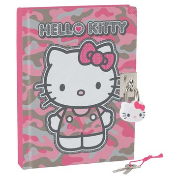 Hello Kitty Camo Locking Diary