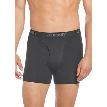 Jockey Core Stripe 3 Pack Boxer Briefs Black