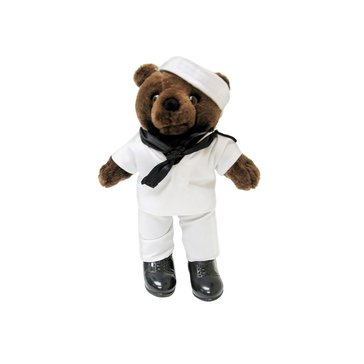 Bear Forces Of America USN White Jumper Mini Bear