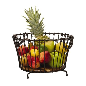 Gourmet Basics by Mikasa Round Stacking/Nesting Metal Basket