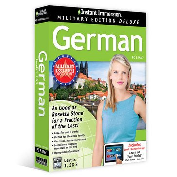 Learn German: Instant Immersion Military Edition Language Software Set