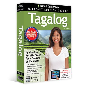 Learn Tagalog: Instant Immersion Military Edition Language Software Set