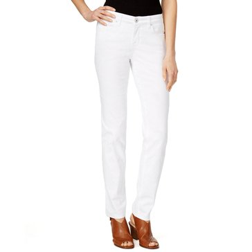 Style & Co Curvy Tummy Skinny Pant in Bright White