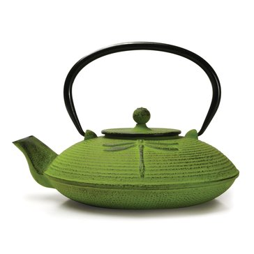 Primula Dragonfly 28 Oz Cast Iron Teapot, Green