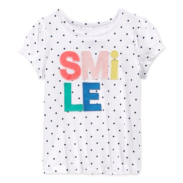 Epic Threads Little Girls' Smile Dot Top, Sizes 2T-6X