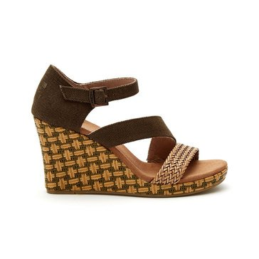 Toms Clarissa Women's Wedge Sandal Olive