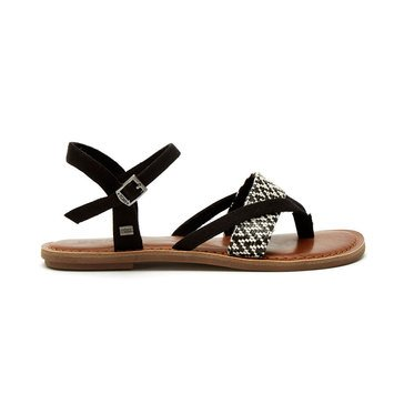 Toms Lexie Women's Sandal Black/White Woven