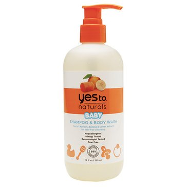 YesTo Naturals Baby Shampoo and Body Wash 12oz