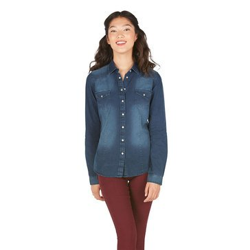YMI Button Up Chambray Shirt