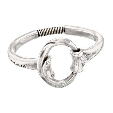 UnoDe50 Sterling Silver Two-Handed Bangle