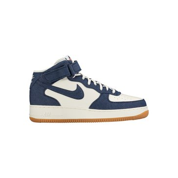 Nike Air Force 1 Mid '07 Men's Basketball Shoe Obsidian / Sail / Gum Light Brown / Obsidian