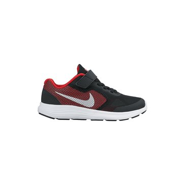 Nike Revolution 3 Boys Running Shoes- Red/Black 10.5-3