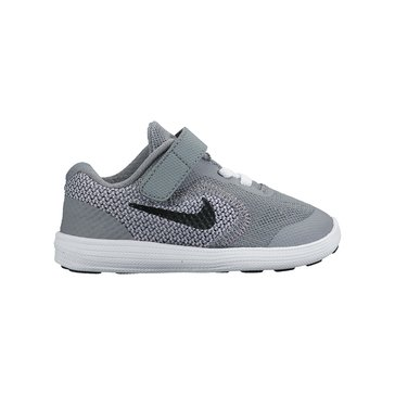 Nike Revolution 3 Boys' Running Shoe - Cool Grey/Black 2-10
