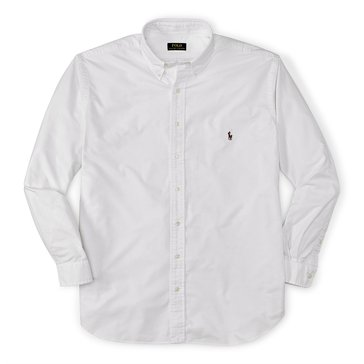 Polo Ralph Lauren Big & Tall Solid Cotton Oxford Sport Shirt
