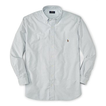 Polo Ralph Lauren Men's Big & Tall Solid Cotton Oxford Sport Shirt