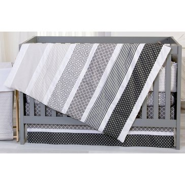 Trend Lab Ombre Gray 3-Piece Crib Bedding Set