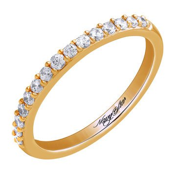 Navy Star 14K Yellow Gold 1/4 cttw Diamond Band