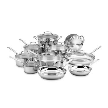Cuisinart Chef's Classic 17-Piece Stainless Steel Cookware Set