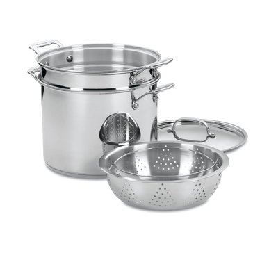 Cuisinart Chef's Classic 4-Piece 12-Quart Stainess Steel Steamer/Pasta Pot