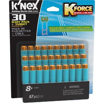 K'Nex K-Force Build & Blast 30-Dart Pack And Target