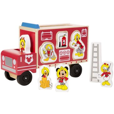 Mickey Mouse & Friends Wooden Fire Truck