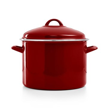 Martha Stewart Collection 10-Quart Stockpot, Cranberry