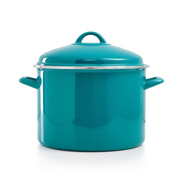 Martha Stewart Collection 10-Quart Stockpot, Teal