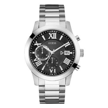 Guess Men's Atlas Stainless Steel Chronograph Bracelet Watch 44.5mm